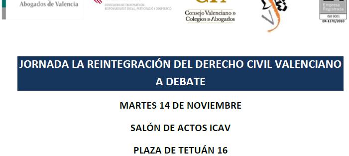 Jornada por la reintegración del Derecho Civil Valenciano
